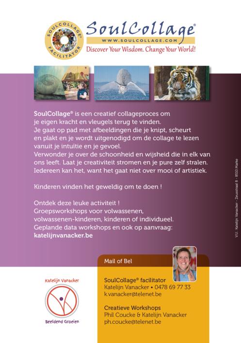 katelijn vanacker SoulCollage® flyer
